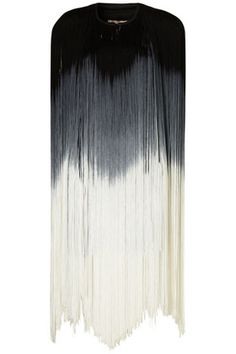 Ombre fringe cape. Would totally rock this