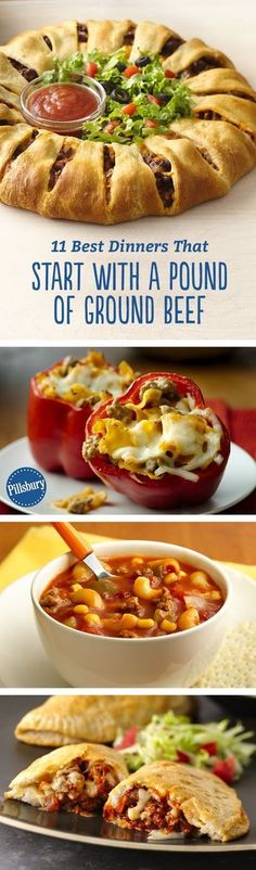 Do you have a pound of ground beef in the freezer? Then you've got the secret ingredient behind these eleven top-rated dinners. From slow-cooker winners to comfort food pastas, these meals all start with ground beef and end with a satisfied family!