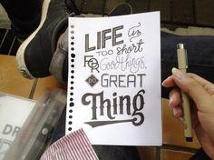 Typographic Quotes: Something To Believe In. Graphic design, tipografia e lettering. Iscrivetevi alla Community su Google+ e condividete i lavori preferiti!