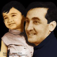 Aamir Khan with father Tahir Hussain