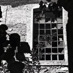 Black and White photography by David Juárez Ollé. Abandoned window in Catalonia