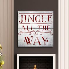 Found it at Wayfair - Jingle All the Way Textual Art on Wrapped Canvas