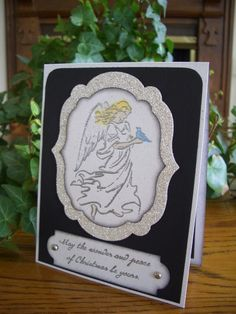 Christmas On Angels Wings Card