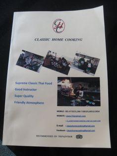Het kookboek wat we aan het einde van de cursus hebben gekregen met al onze gerechten erin zodat we ze thuis nog een keer kunnen maken
