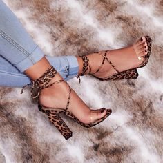 Sexy Summer PVC Transparent Ankle Strap Leopard/Snake Print Women Block High Heels Fashion Luce Up Sandals Party Shoes Pumps Pumps Heels, Stiletto Heels, Flats, Stilettos, Boys Dress Shoes, Ladies Shoes, Shoes Women, Steel Toe Shoes, Flat Shoes