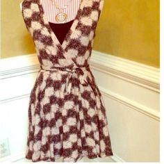 Last One! Black/Beige Wrap Dress