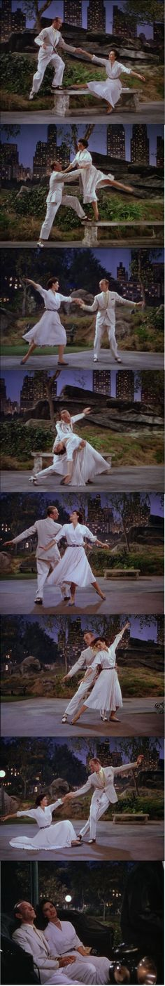 """Fred Astaire and Cyd Charisse """"Dancing in the Dark"""" in Central Park  The Band Wagon 1953"""