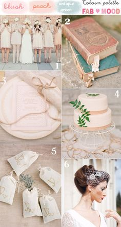blush bridesmaids vintage wedding. Nice, but no lavender sashets bc Lea is allergic.