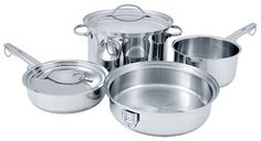 Pin it! :)  Follow us :))  zCamping.com is your Camping Product Gallery ;) CLICK IMAGE TWICE for Pricing and Info :) SEE A LARGER SELECTION of camping pots and pans at http://zcamping.com/category/camping-categories/camping-cooking-and-food/camping-pots-and-pans/ - hunting,  camping pots, camping pans, kitchen utensils, camping kitchen utensils, camping essentials, camping, camping gear - Cuisinart STOW-8 Stowaway 8-Piece Stainless-Steel Cookware Set « zCamping.com