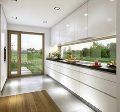 The Ideal Approach to Awesome Kitchen Window Design In feng shui, the kitchen is regarded as the area of the house that sustains life and nourishes the family, along with being a sign of wealth. Kitchen Room Design, Modern Kitchen Design, Home Decor Kitchen, Modern House Design, Interior Design Kitchen, Kitchen Ideas, Kitchen Inspiration, Kitchen Designs, Diy Kitchen