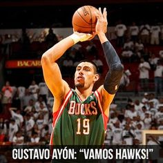 "We have claimed 6'10"" Mexican-born PF Gustavo Ayón off waivers. Double tap to welcome him to Atlanta!"