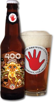 "400 Pound Monkey IPA  Left Hand Brewing Company  Longmont, Colorado    ""glows in the glass"", ""caramel malt and mellow, fruity English hops"", ""clean and polished"", are all phrases used to describe this luscious sounding IPA, a ""softer, more traditional sort of beast""."