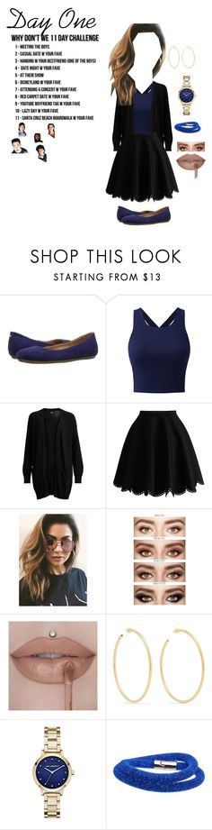 """""""Day One- Meeting the Boys"""" by wildinvianay ❤ liked on Polyvore featuring beauty, Naturalizer, Object Collectors Item, MINKPINK, Jennifer Fisher, Karl Lagerfeld, Swarovski and 11days"""