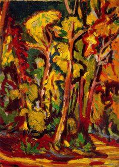 Ernst Ludwig Kirchner - Alberi d'autunno  www.artexperiencenyc.com
