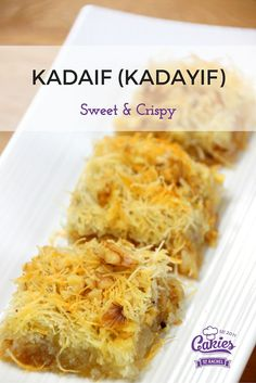 These Kadaif (Kadayif) squares are even better the next day when the sugar syrup has fully soaked into the dough. The dough will be crispy on top and soft and sticky (in a good way) at the bottom with the crunch of the walnuts in between. If you've got a sweet tooth you'll love these!