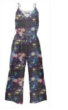 Space Tie Waist Jumpsuit