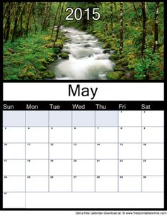 May 2015 Printable Monthly Calendar