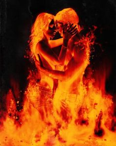 The flame burned so brightly in their hearts, they found each other in the dark.