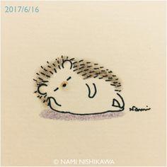 1209 今日もうサボっていい?え、ダメなの? Don't I have to do anything today? Sorry? Why not? #illustration #hedgehog #イラスト #ハリネズミ #なみはりねずみ #illustagram