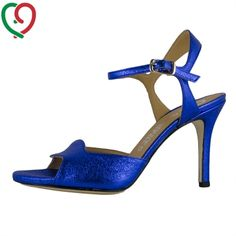 tango shoes for women made in Italy! mimì in blue leather cracked effect. Special offer at 110 €!