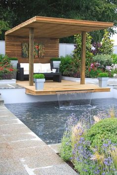 "m4cravings: ""Backyard With Water Feature. Peaceful. """