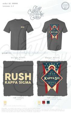 Kappa Sigma | Kappa Sig | K Sig | Rush Kappa Sigma | Patriotic Rush Tee Shirt Design | South by Sea | Sorority Shirts | Sorority Tanks | Greek Shirts