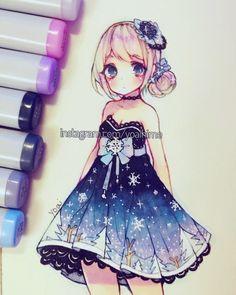 Cute chibi Galaxy girl