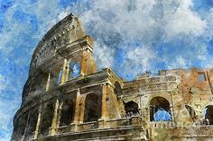 Colosseum in Rome, Italy  by Brandon Bourdages