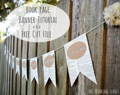 Tutorial - Book Page Banner from The Thinking Closet cool idea using old books