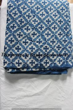 10 Yard Indian Hand Block  Print Pure Cotton Fabric Sanganeri Running Fabric