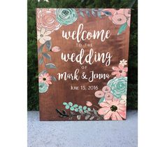 Rustic Wedding Sign  Welcome Wedding Sign by heartandhandshop