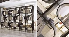 Plywood Contemporary Room Dividers with DNA Bookcase by Linfa Design