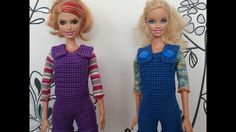 Вязание крючком. Комбинезон/полукомбинезон для куклы крючком.