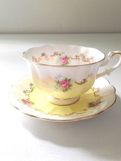English Bone China Royal Albert Teacup & Saucer by MariasFarmhouse, $195.00