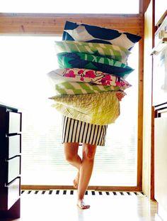 a selection of marimekko cushions