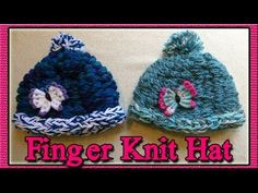 How To Finger Knit A Hat - http://www.knittingstory.eu/how-to-finger-knit-a-hat/