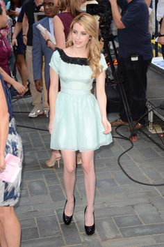 Emma Roberts appears on the 'Today Show,' NYC. Celebrity Beauty, Celebrity Style, Baby Doll Style Dress, Emma Roberts Style, Girls Short Dresses, New Years Dress, Brian Atwood, Today Show, Dress Skirt