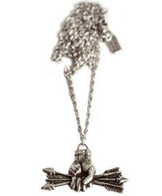 Pamela Love Silver Small Arrows Pendant $138