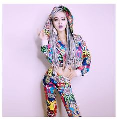Dj Singer Costume Ds Sexy Clothing Hip Hop Street Dress New Night Field Bar  Sexy Hooded Three-Piece Sexy Stage Clothing Bodysuit a3b8d298bc51