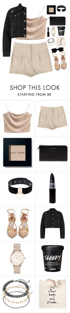 """Prada Sure"" by mode-222 ❤ liked on Polyvore featuring Acne Studios, Bobbi Brown Cosmetics, Givenchy, Manokhi, Jimmy Choo, River Island, ROSEFIELD, Ball and Prada"