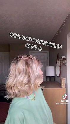 Short Hair For Kids, Short Hair Styles Easy, Cute Hairstyles For Short Hair, Medium Hair Styles, Curly Hair Styles, Pigtail Hairstyles, Diy Hairstyles, Wedding Hairstyles, Hair Tips Video