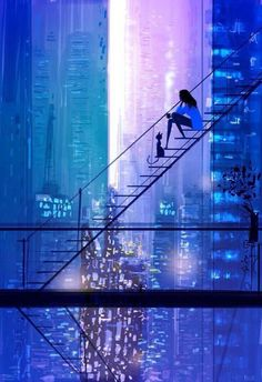 Pascal Campion - all rights reserved ©. Pascal Campion is a French-American illustrator and animator. Illustrator, Pascal Campion, Wow Art, Amazing Art, Awesome, Urban Art, Fantasy Art, Digital Illustration, People Illustration
