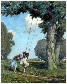 George Faulkner Wetherbee (American, 1851–1920) «The Swing»