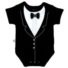 Frenchie Mini Couture Funny Baby One-Piece Bodysuit, Tuxedo #classy #baby #cravehunter