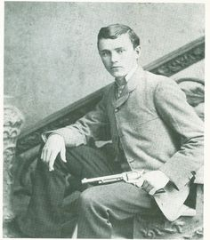 "Robert Ford, The man who killed Jesse James. He pretty much carried the moniker ""Dirty, Rotten Coward Who Shot Jesse James In the Back."" It occured, by the way, as Jesse was hanging a picture in his mother's house. Not the kind of man I'd want to be. Jesse James, Frank James, James Thomas, Gangsters, Vintage Photographs, Vintage Photos, Rare Photos, Old West Outlaws, Famous Outlaws"