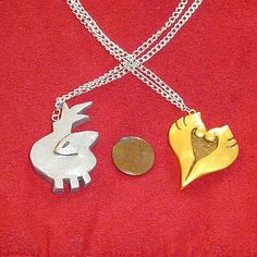 Pokemon Heart Gold and Soul Silver Necklaces by YellerCrakka