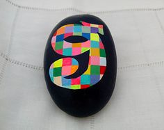 Painted Stone - Mediterranean Sea - Alphabet G