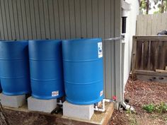 www.bluebarrelsystems.com Recycled food-grade barrels for rainwater harvesting AND Complete DIY Kits for building rainwater catchment systems out of recycled barrels Our design is code compliant Individual barrels $29 + tax. Complete kits range in price between $35 - $70 per barrel unit + tax and shipping; including barrel AND all necessary fittings including downspout diverter. 2 barrel minimum. The more barrels you connect the less you pay per barrel unit.