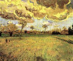 Arles (1888-1889)  Landscape Under a Stormy Sky