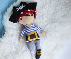Mark the Pirate Doll 20 Boy Cloth Doll by PocketswithPosies